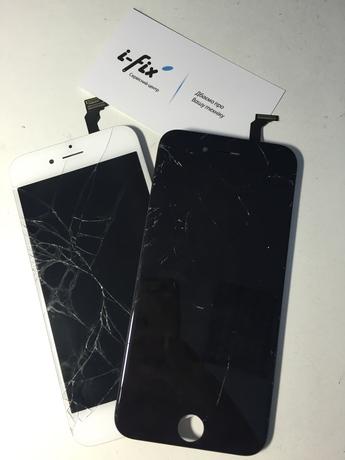 разбитый дисплей iphone 6