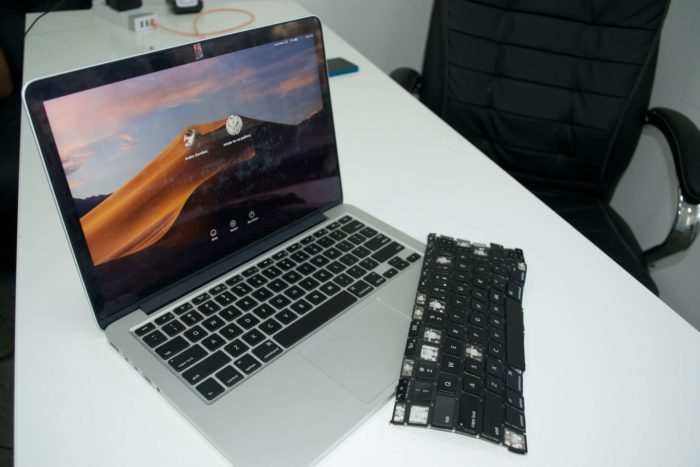 MacBook Pro A1502 замена клавиатуры