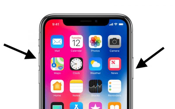 Как перезагрузить iPhone X?