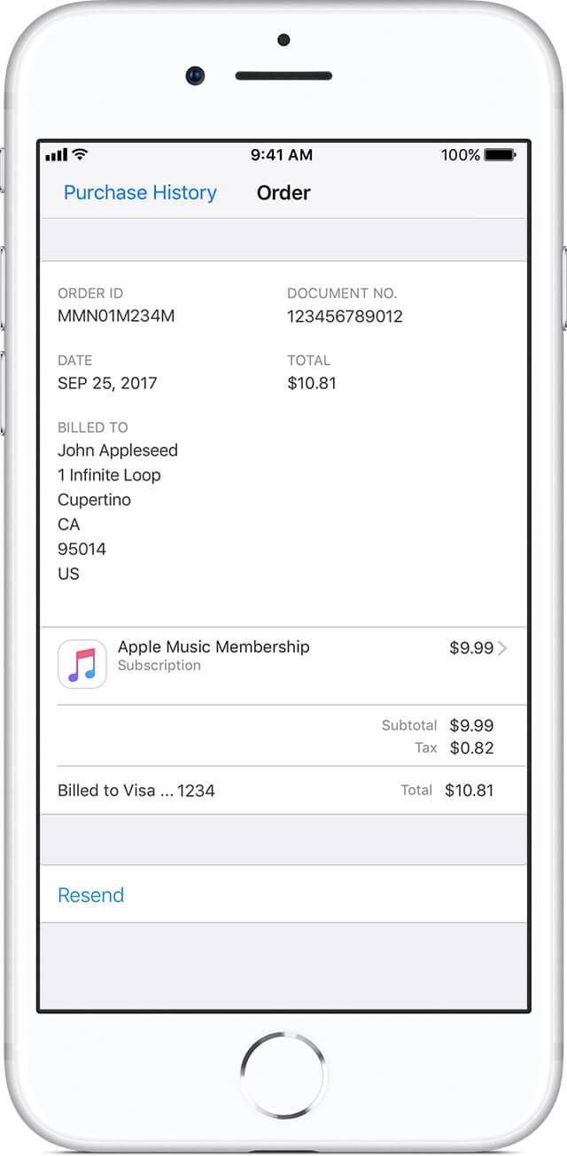 Просмотр истории покупок на iPhone