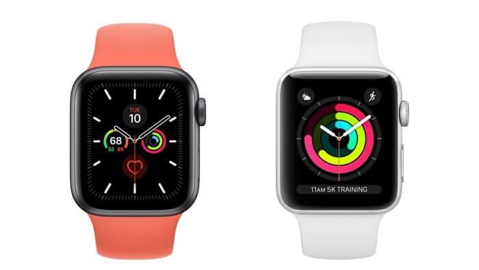 Внешний вид Apple Watch Series 5
