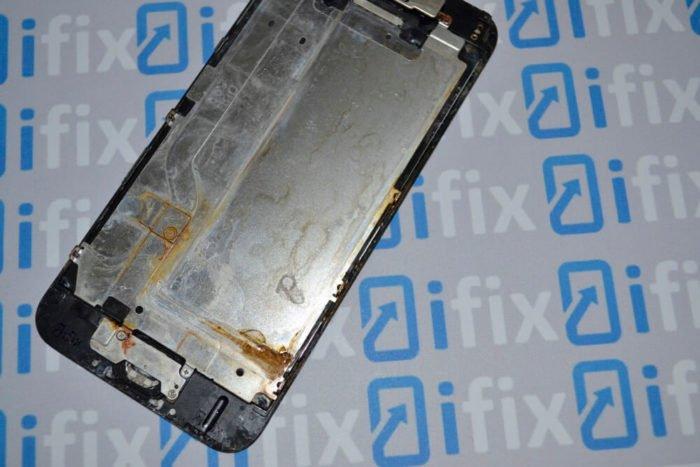 повреждения от воды iPhone 6