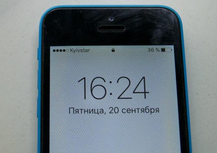 ремонт кварца iPhone 5c